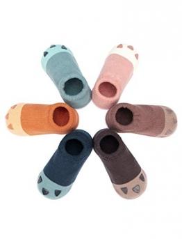 Adorel Baby Socken Anti-Rutsch Kinder Stoppersocken 6er-Pack Krallen von Katzen 2-4 Jahre (Herstellergr. M) - 1