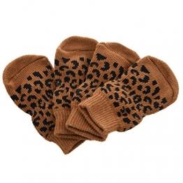 Anti-Rutsch Socken - SODIAL(R)Hunde Huendchen Katze Pfotenschutz Anti Rutsch Socken L - 1