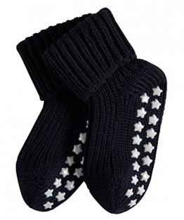 FALKE Babys Socken Catspads Cotton, 96% Baumwolle, 1 Paar, Blau (Darkmarine 6170), Größe: 80-92 - 1
