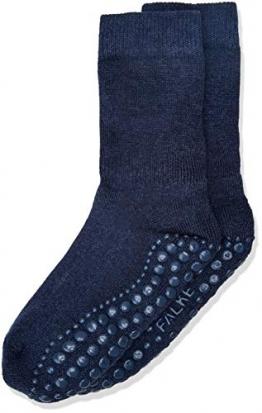 FALKE Unisex Kinder Catspads K So Socken, blickdicht, Blau (Dark Blue Melange 6688), 27-30 - 1