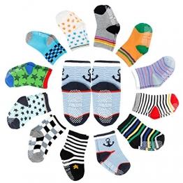 FUTURE FOUNDER 12er-pack Baby ABS Socken, Anti Rutsch Socken für 12-36 Monate Baby Mädchen und jungen - 1