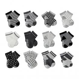 FUTURE FOUNDER 6er-pack Stoppersocken Kinder Baby ABS Socken, Anti Rutsch Socken für 0-24 Monate Baby Mädchen und jungen - 1