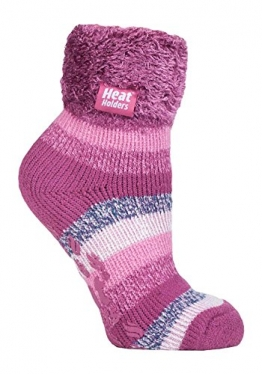 Heat Holders 1 Paar Bettsocken Damen Stoppersocken abs antirutsch kuschelsocken socken in 8 farbig 37-42 eur (HHL07) - 1