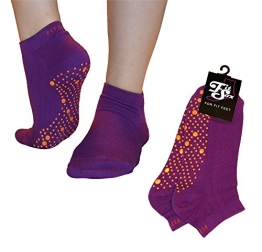 Pilates, Yoga, Barre, Kampfsport, Fitness, Tanz. Anti-Rutsch, Stürze Prävention Grip-Socken (Lila / Orange) Grip Socks - 1