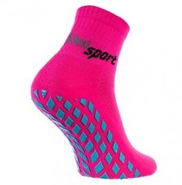 Rainbow Socks - Damen Herren Neon Sneaker Sport Stoppersocken - 1 Paar - Rosa - Größen: EU 39-41 - 1