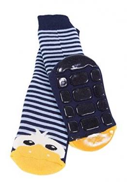 Weri Spezials Kinder Voll-ABS Socke Enten Motiv in Marine Gr.23-26 (3-4 Jahre) - 1