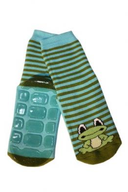 Weri Spezials Voll - ABS Socke, Frosch Motiv in Blau-gruen, Gr.19-22 (12-24 Monate) - 1