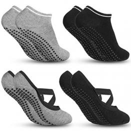 Zacro Yoga Socken und Sportsocken Pilates Socken Ballett Socken Fußboden Socken mit antibakteriell und schweißabsorbierend geeignet für Frauen - 1