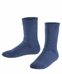FALKE Kinder Stoppersocken Catspads, Baumwolle/Wollmischung, 1 Paar, Blau (Dark Blue 6680), Größe: 23-26 - 1