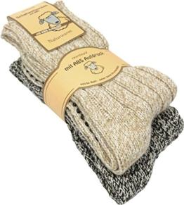 normani 2 Paar Antirutsch Norweger Socken mit ABS Sohle Farbe Mehrfarbig Größe 47-50 - 1