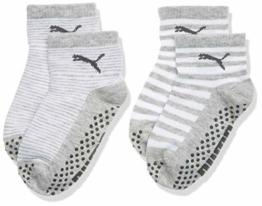 PUMA Baby-Jungen Abs 2p Socken, Grau (Grey Mélange 032), One size (Herstellergröße: 19/22) (2er Pack) - 1