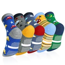 VBIGER 5 Paar Süsse Kleinkind Jungen Baumwolle Socken im Alter von 3-5 Jahren,Weihnachtsgeschenk - 1