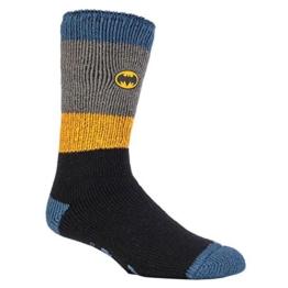 HEAT HOLDERS - Herren und Jungen Marvel thermische Anti Rutsch Socken Stoppersocken in 4 Designs (39-45 Eur, 6-11 UK, Batman/Offiziersbursche) - 1