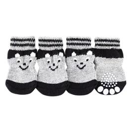 PanDaDa Anti Rutsch stricken Socken Hund Pfote Protector für Indoor Wear - 1