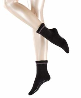 ESPRIT Damen Stoppersocken Cosy - Schurwoll-/Baumwollmischung, 1 Paar, Schwarz (Black 3001), Größe: 39-42 - 1