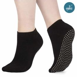 x3 Packung Pilates Socken, Yoga Socken - Martial Arts, Fitness, Zumba, Tanz - Anti-Rutsch - Full Toe Sports Socken - Unisex mit Grip, EU 40-45 - Von ATA® - 1