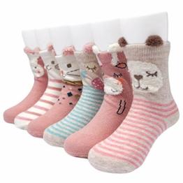 Adorel Baby Mädchen Socken Anti-Rutsch Stoppersocken 6er-Pack 1-3 Jahre - 1