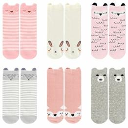 Ateid Baby Socken Anti-Rutsch Stoppersocken 6er-Pack 2-4 Jahre - 1