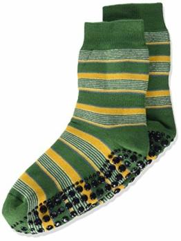 FALKE Unisex Kinder Mixedstripe Cp Socken Stoppersocken, grün (palme 7391), 27-30 - 1