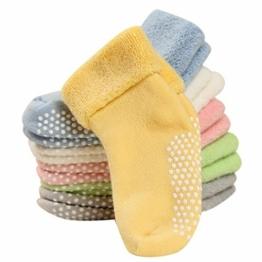 FEOYA- 1-3 Jahre Baumwolle Babysocken Dick Warm Babysöckchen Herbst Winter Kindersocken Gepunkte Kinder Socken Set 6 Paar Verschidene Farben - 1