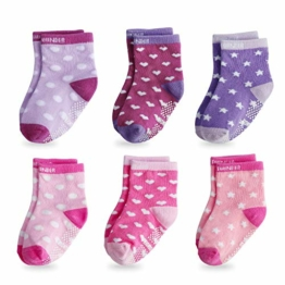 FUTURE FOUNDER Baby Socken Stoppersocken Kinder Antirutschsocken Baby 6 Paar ABS Antirutsch Socken Kinder Krabbelsocken Babysocken für 12-36 monate Kleinkind Mädchen und Junge - 1